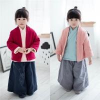 儿童汉服男童唐装冬装女童宝宝加绒加厚国学服中国风保暖复古上衣