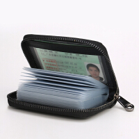 男士驾驶证卡包韩版拉链风琴女式*套薄款零钱包s6 黑色[20卡位胶页款]