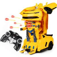 ?大号金刚变形遥控车机器人大黄蜂儿童变形玩具男孩充电动遥控汽车? 4_大皇蜂二代 可发射