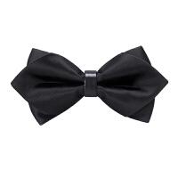 男士韩式英伦蝴蝶结三角领结男士伴郎新郎衬衫三角黑领结