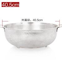 加厚不锈钢盆漏盆家用菜盆厨房圆形洗米盆洗菜篮淘米篮沥水盆果盆