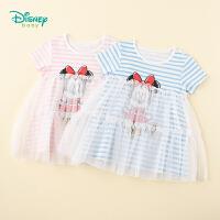 【3件3折到手价:70.8】迪士尼Disney童装 儿童连衣裙女童网纱拼接米妮公主裙