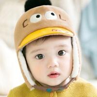 韩版婴儿帽子秋冬3-6-12个月男女童鸭舌帽宝宝帽子棒球帽1-2岁冬 加绒护耳 48码:帽围(46-48cm 适合6-