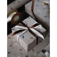 复古款diy生日礼物包装纸礼品包书皮纸ins背景纸情人节恋人创意包装纸北欧系列