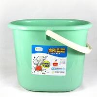 华美日用 9215 塑料手提水桶 胶棉拖把地拖桶 洗车桶 清洁桶 提桶无盖 颜色随机