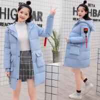 少女冬装外套2018新款初高中学生学院风保暖中长款加厚棉衣女