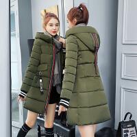 棉衣羽绒女中长款加厚棉袄2018新款韩版修身连帽保暖冬季外套