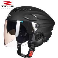 摩托车头盔男女士半覆式夏季防晒轻便四季个性电动车半盔 均码