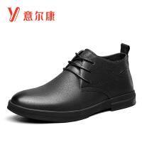 意尔康男鞋男士单鞋韩版高帮男靴系带潮流男短靴