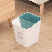 分类垃圾桶 北欧日系干湿双用分类家用客厅厨房卫生间纸篓垃圾筒篓加厚塑料桶