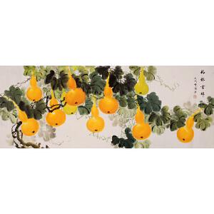 杨平《福禄图》1.8米