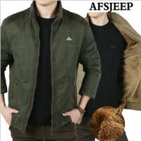 新款AFS JEEP男士棉衣 战地吉普短款加绒休闲大码外套厚纯棉518