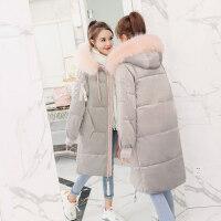 羽绒女中长款冬季金丝绒棉衣韩版宽松bf加厚棉袄外套