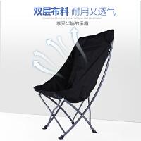 户外折叠椅子靠背椅超轻便携式休闲自驾游家用写生钓鱼画画凳 加高靠背黑