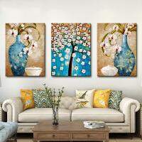 现代简约客厅装饰画沙发背景墙壁画餐厅无框画卧室三联画抽象挂画 35*50(适合1.5米墙面) 整套价格【含3幅】