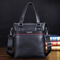 男包手提包男士公文包单肩包斜挎包男皮包休闲包竖款男士包包