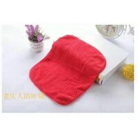 5条装珊瑚绒毛巾加厚擦手巾清洁抹布挂式吸水擦车不掉毛家用方巾 红色 5条装
