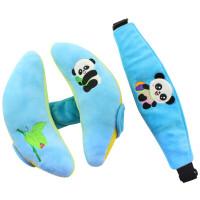 W 宝宝头+眼罩婴儿安全座椅睡觉靠枕推车枕D7