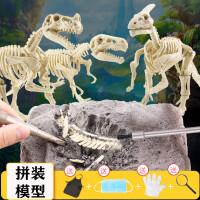 *考古挖掘玩具手工模型儿童礼物diy侏罗纪霸王龙骨架拼装