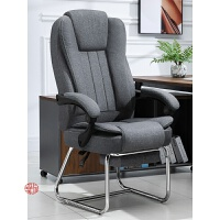 电脑椅家用舒适可躺办公椅布艺老板椅弓形座椅午休按摩靠背椅子