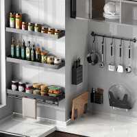 厨房置物架壁挂式免打孔多功能刀架调料用品家用大全墙上收纳套装
