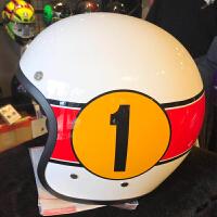 X70摩托车复古头盔机车骑行半盔4/3半覆式太子头盔春夏个性