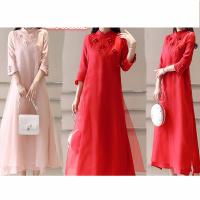春夏季新娘回门装结婚敬酒服中长款晚礼服大码中式改良旗袍连衣裙