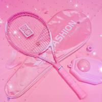 网球拍单人初学者大学生套装网球带线回弹专业拍女网球训练器