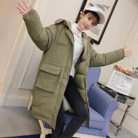 冬季羽绒棉衣服女2018新款棉袄中长款韩版宽松bf学生加厚工装