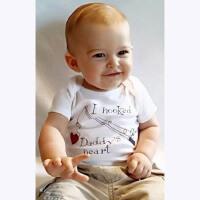 ins婴儿三角哈衣夏季新生儿爬爬服宝宝短袖连体衣纯棉背心包屁衣