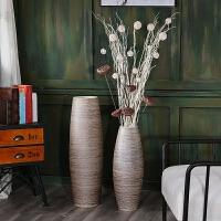 复古创意现代客厅家居软装饰品高陶罐陶落地大花瓶瓷器插花摆件