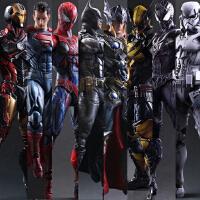 复仇者联盟改蜘蛛侠手办模型死侍钢铁侠美国队长关节可动人偶玩具
