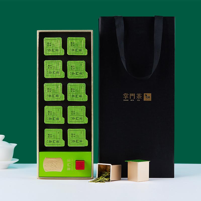 2019新茶 八马茶叶 西湖龙井明前特级绿茶掌门茶小罐装礼盒装40克