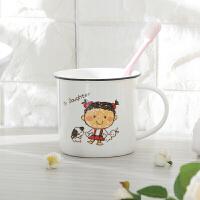 W 一家六人漱口杯卡通儿童刷牙杯亲子水杯家用四口杯子陶瓷D10
