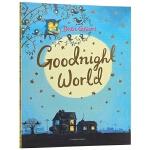 晚安世界 英文原版绘本 Goodnight World 日常英语词汇 儿童睡前故事读物 亲子共读绘本 全彩大开本 De
