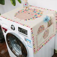 大型双开门冰箱盖布*尘*晒罩微波炉盖巾洗衣机罩盖布床头柜冰柜 防晒防尘--彩虹刺猬 () 35*95 (微波炉、烤箱通