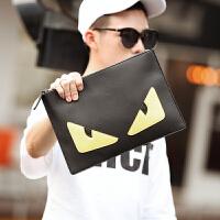 潮流撞色时尚男士韩版手拿包 时尚男士手抓包 街头iPad单肩斜跨包