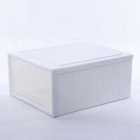 新品秒杀衣服储物箱塑料收纳箱抽屉式收纳柜透明衣柜收纳盒衣物整理箱 1个