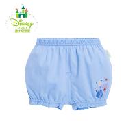迪士尼Disney夏季女童宝宝短裤纯棉灯笼裤中腰可开裆外出短裤162K708