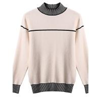 毛衣女半高领女士打底衫2018冬季新款时尚套头内搭针织衫