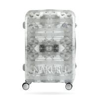 行李箱女20铝框登机皮箱子24密码旅行箱潮26寸万向轮拉杆箱男 灰色幻影 20寸