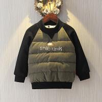 男童加绒卫衣冬季韩版打底衫儿童加厚洋气宝宝套头上衣潮