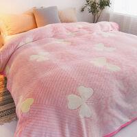 毛毯被子加厚珊瑚绒毯子冬季绒床单人毛巾被春秋空调午睡毯定制!