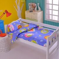幼儿园儿童床上用品三件套棉花被子 床垫 枕芯 纯棉被套枕芯 枕套 棉花双胆款 七件套
