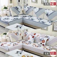 ???沙发垫四季通用布艺简约现代欧式夏季双面防滑实木123组合套装