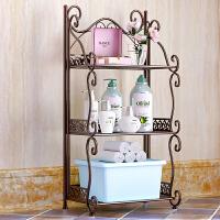 索尔诺 铁艺浴室置物架落地卫生间卧室多层架子 洗手间厨房收纳储物层架Z673