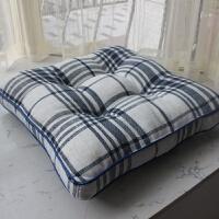 棉麻椅子坐垫 地板垫 加厚餐椅垫座垫椅子垫榻榻米坐垫飘窗垫 43*43CM机器定位款