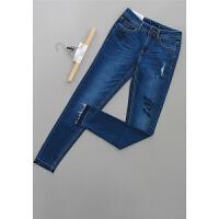[T81-2]新款女士女装长裤显瘦牛仔裤42