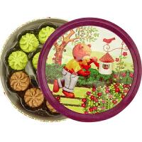 宝莎 小熊曲奇饼干 原味抹茶可可三拼味烘焙甜品铁盒网红零食香港风味小花曲奇零嘴 (三拼味曲奇230g)