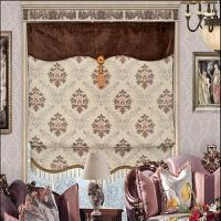 现代简约欧式罗马帘升降帘加厚遮光雪尼尔客厅欧式遮光飘窗窗帘 雪尼尔罗马帘